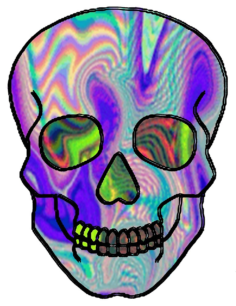 Psychedelic Skull by franorton