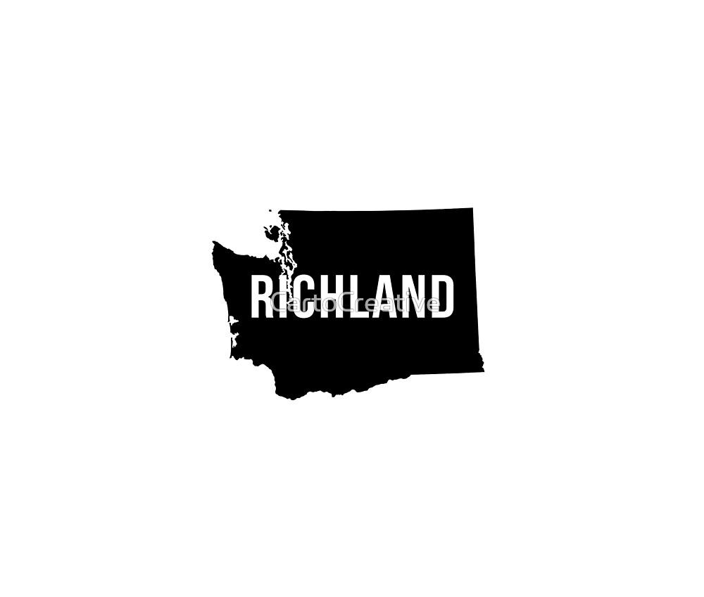 Richland, Washington Silhouette by CartoCreative
