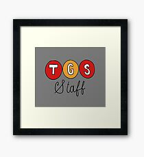 TGS Staff Logo from 30 Rock Framed Print