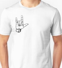 Hand I Love You ILY Sign Language Symbol Gesture  T-Shirt