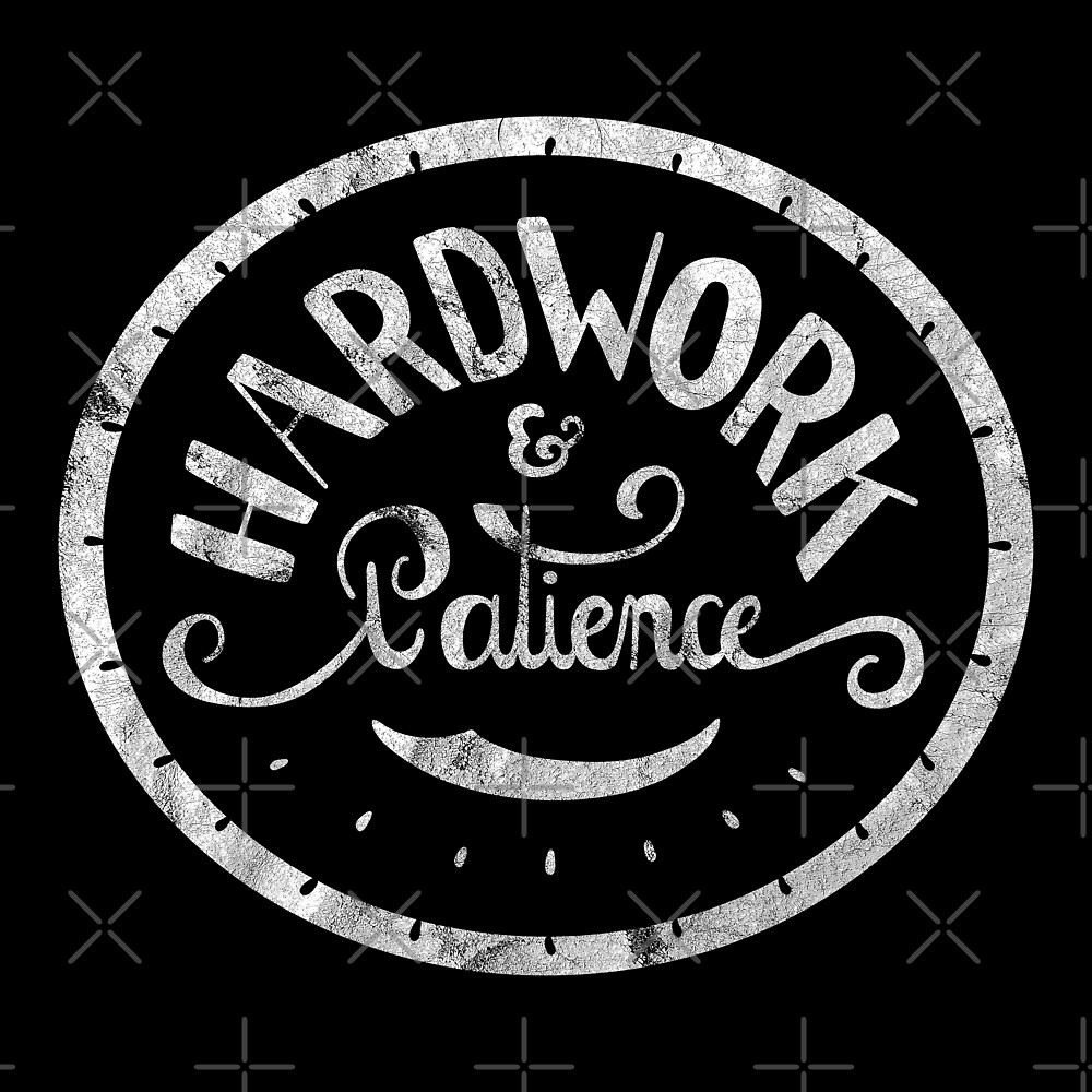 Hard work and Patience (vintage) by Ayelet Fleming