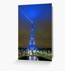 La Tour Eiffel En Bleu Greeting Card