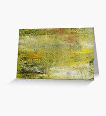 Yellow Non Representational Painting  Greeting Card
