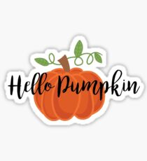 Hello Pumpkin Sticker