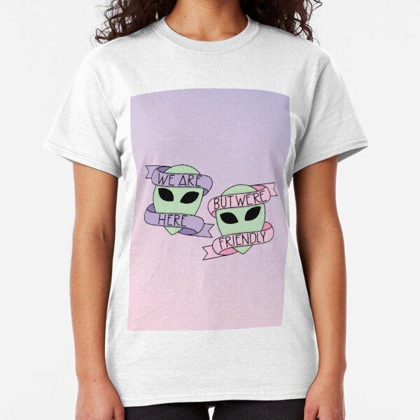 Friendly Aliens (in Unicorn) Classic T-Shirt