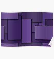 Blocks (Purple) Poster