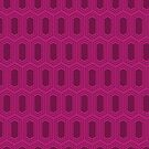 Elongated Hexagon Geometric Pattern (Fill Deep Red on Magenta) by KristyKate