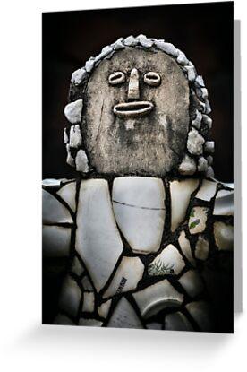 Nek Chand Fantasy 5 - GREETING CARD by Glen Allison