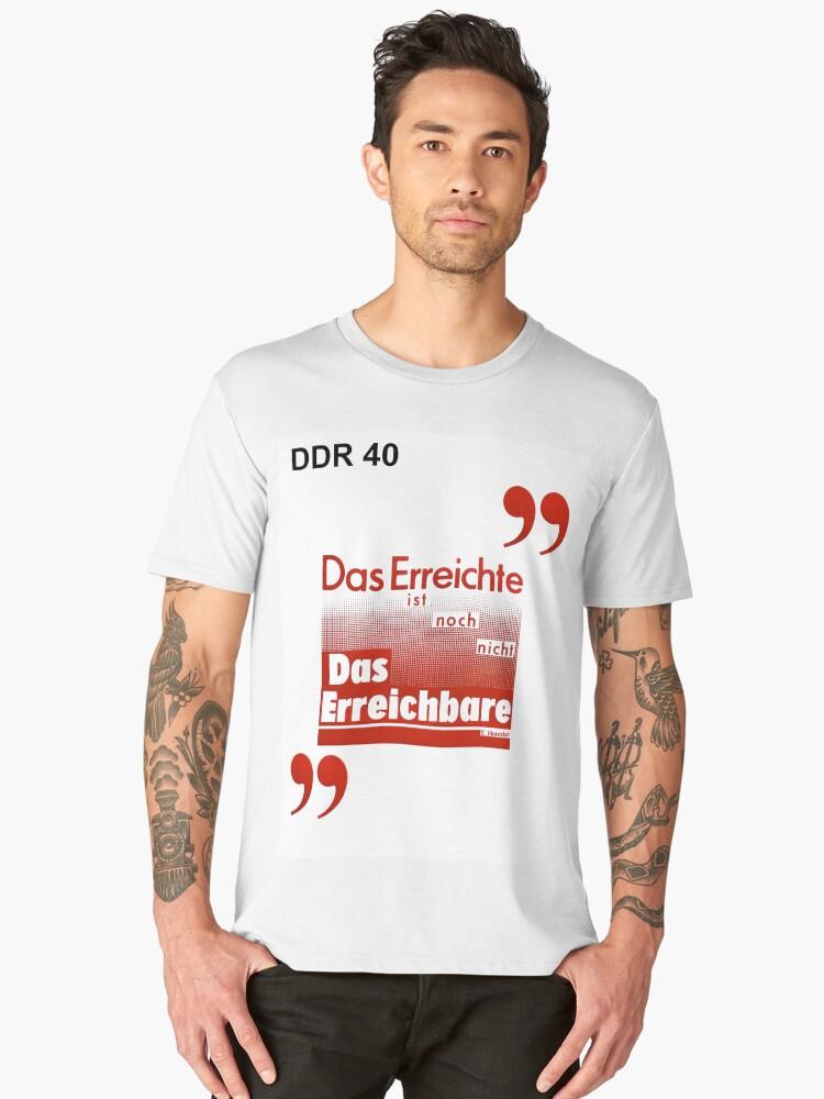 DDR 40 - Good is Not the Best Men's Premium T-Shirt Front