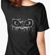 Toothless Eyes Black and White Women's Relaxed Fit T-Shirt