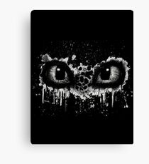 Toothless Eyes Black and White Canvas Print