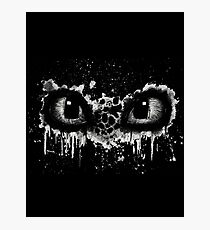 Toothless Eyes Black and White Photographic Print