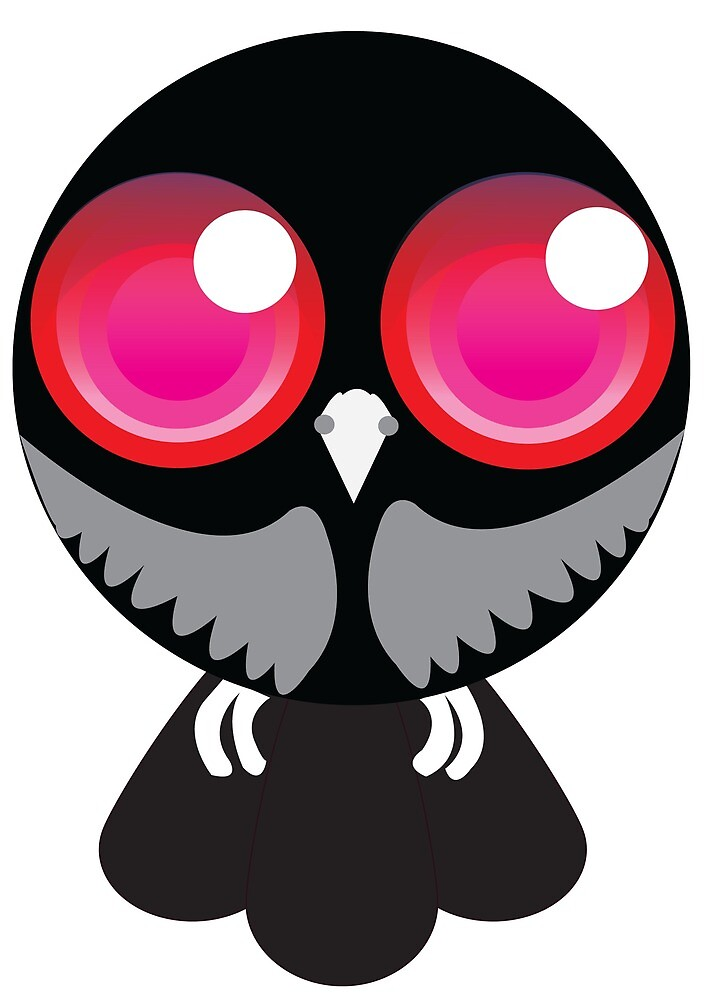 Pink eye owl by Animator-Tana11