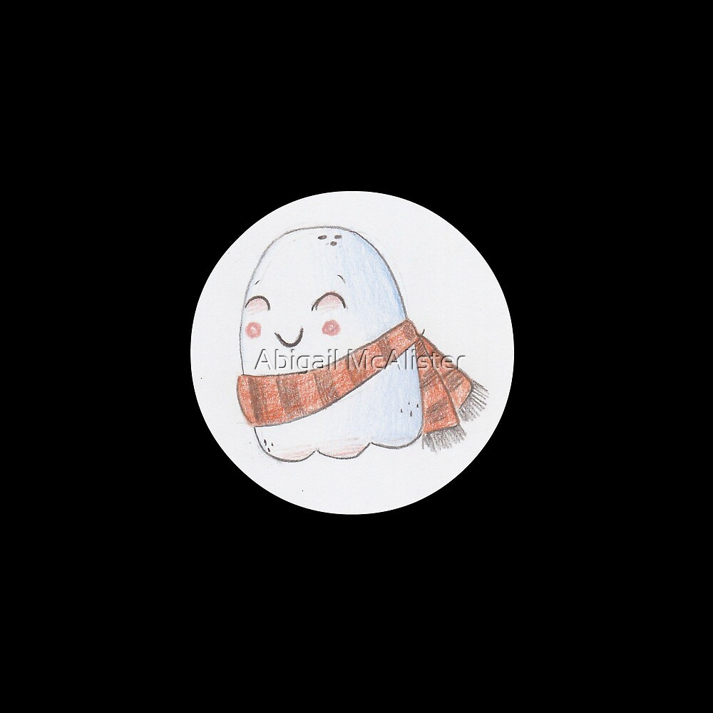 Happy Ghost (polka dots) by Abigail McAlister
