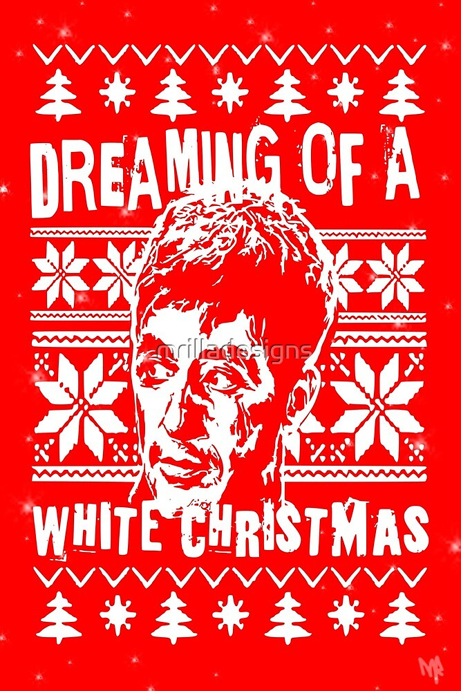 Scarface christmas card white christmas funny by mrilladesigns