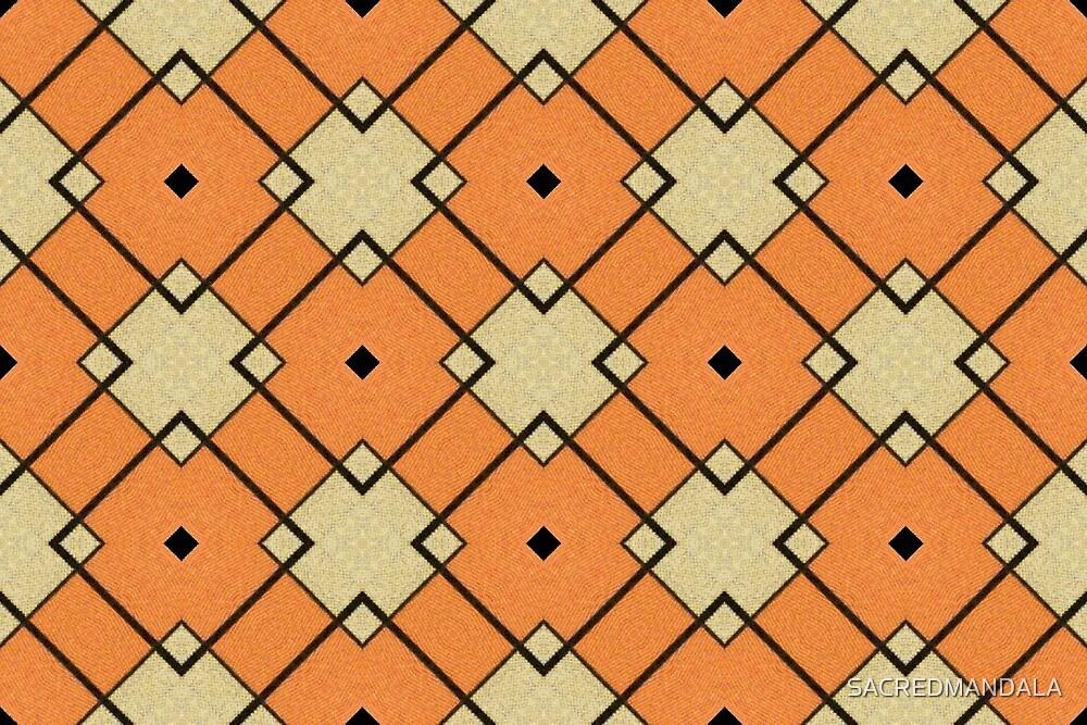 Orange Lattice by SACREDMANDALA