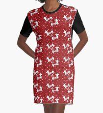 Merry & Bright Christmas Graphic T-Shirt Dress