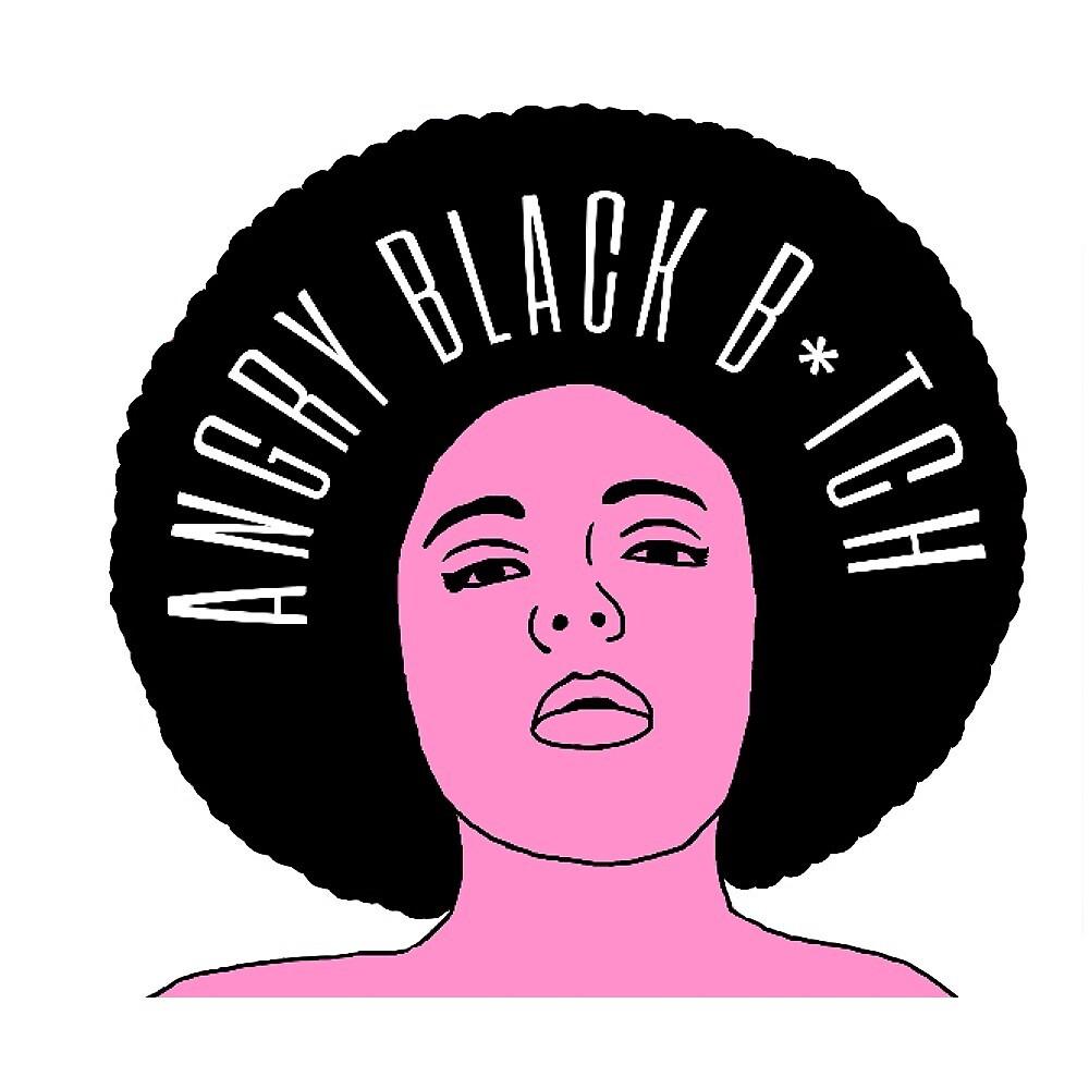 Angry Black B*tch Logo T-Shirt by Tony Pajamas