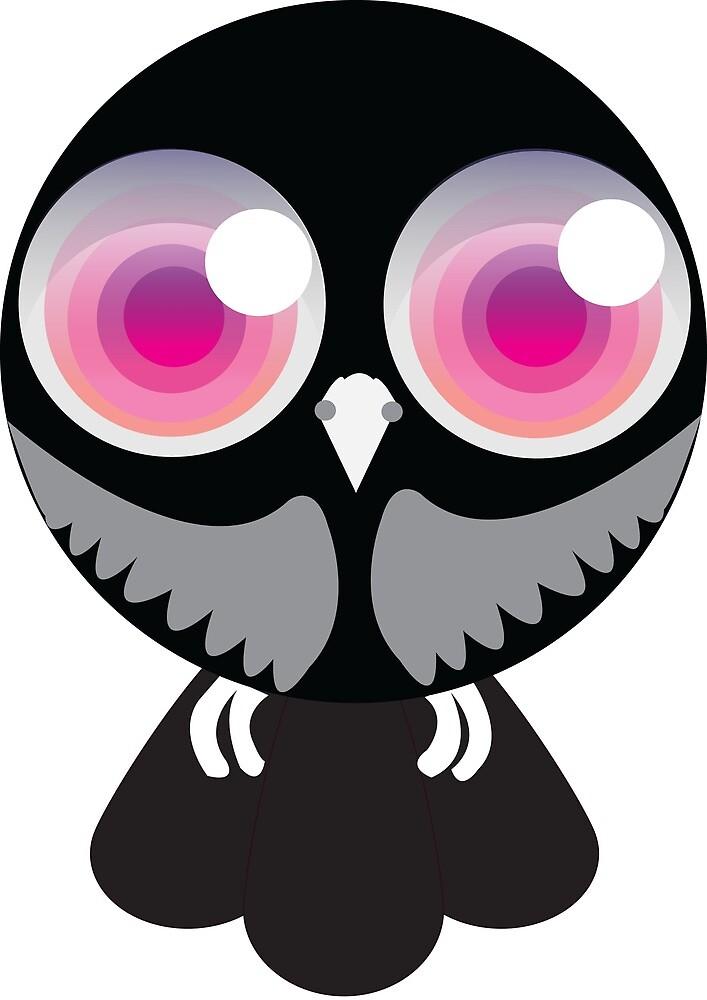 Pink eye owl by Animator-Tana11