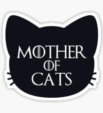 Pegatina Madre de los gatos audaz