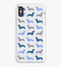 Cool Blue - Dachshund Pattern iPhone Case/Skin