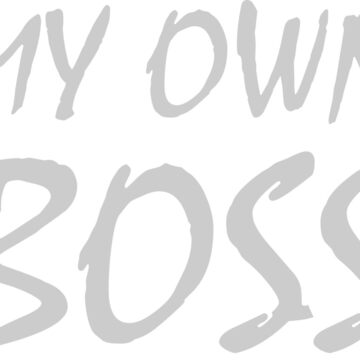 T-Shirt My Own Boss Gray by samcallou