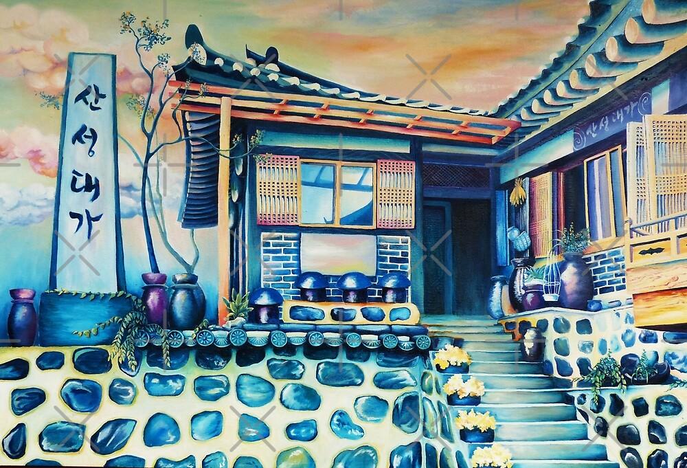 Colorful Hanok by tahniosterman