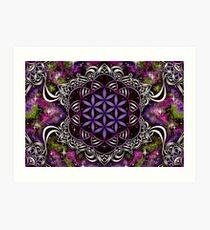 Flower of Life - purple Art Print
