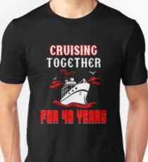 Top T-shirt For 40th Wedding Anniversary, Fashion Anniversary Gifts For Couple Unisex T-Shirt