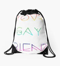 Your Gay Friend - Lines Rainbow Drawstring Bag
