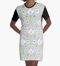 Tea and Biscuits Graphic T-Shirt Dress