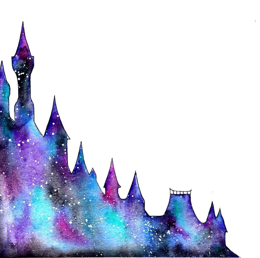 Princess Castle Galaxy Digital Design by darkestraven