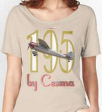 Camiseta ancha para mujer por Cessna - Cessna 195 VH-AAL