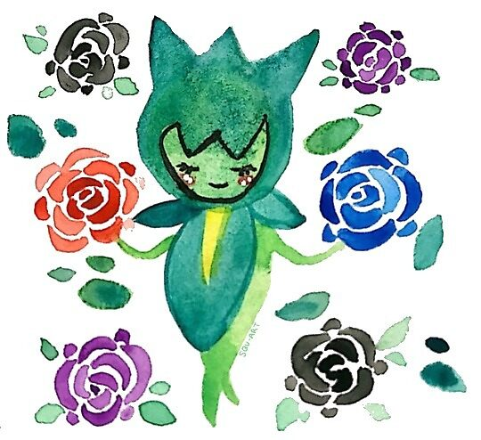 Watercolor Roselia by squ-art
