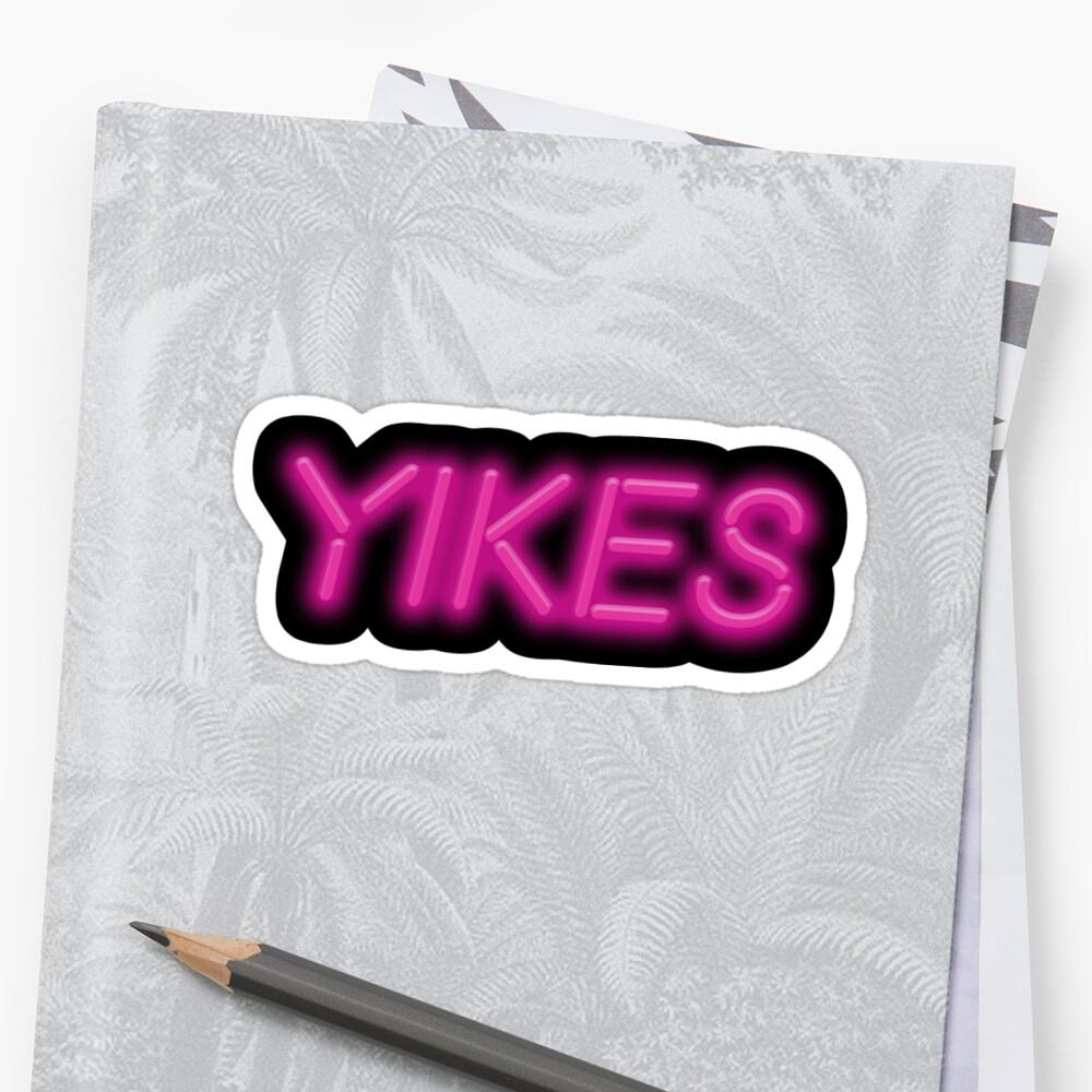 Yikes Neon Sign Sticker