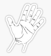 Outline Hand Palm Open Sticker