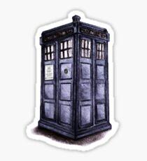 Doctor Who Tardis illustration Sticker