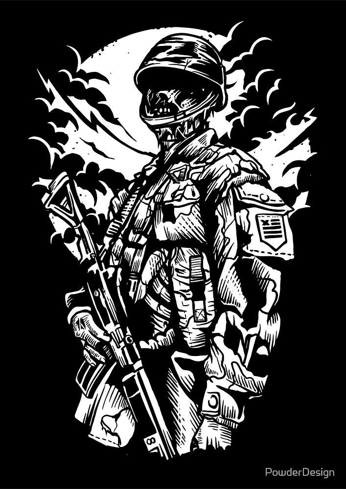 Zombie Soldier! by PowderDesign