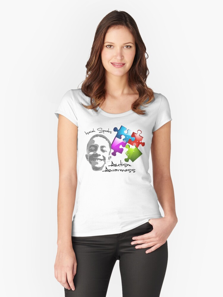 Autism Awareness (Isaiah Speaks) Women's Fitted Scoop T-Shirt Front