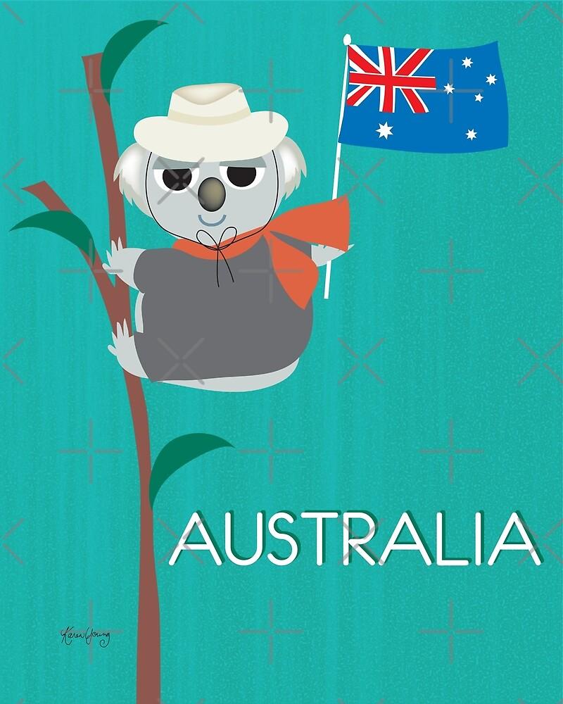 Australia - Illustration by Loose Petals by LoosePetals