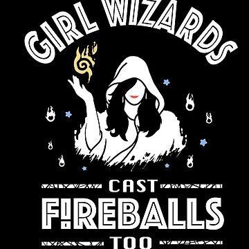 Girl Wizards cast Fireballs too by AHundredAtlas