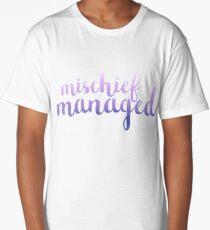 Purple Mischief Managed Long T-Shirt
