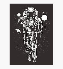 Bicycling Astronaut Photographic Print