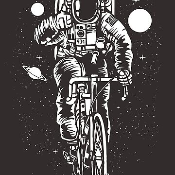 Bicycling Astronaut by PowderDesign