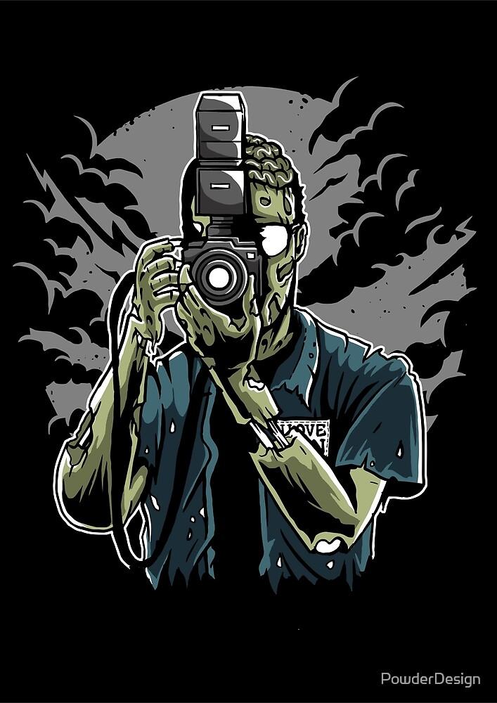 Zombie Photographer by PowderDesign