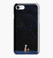 Calvin and Hobbes- Admiring The Emptyness iPhone Case/Skin
