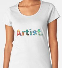 Artist Art, Paint Pallete, Artist Painter Designer Women's Premium T-Shirt