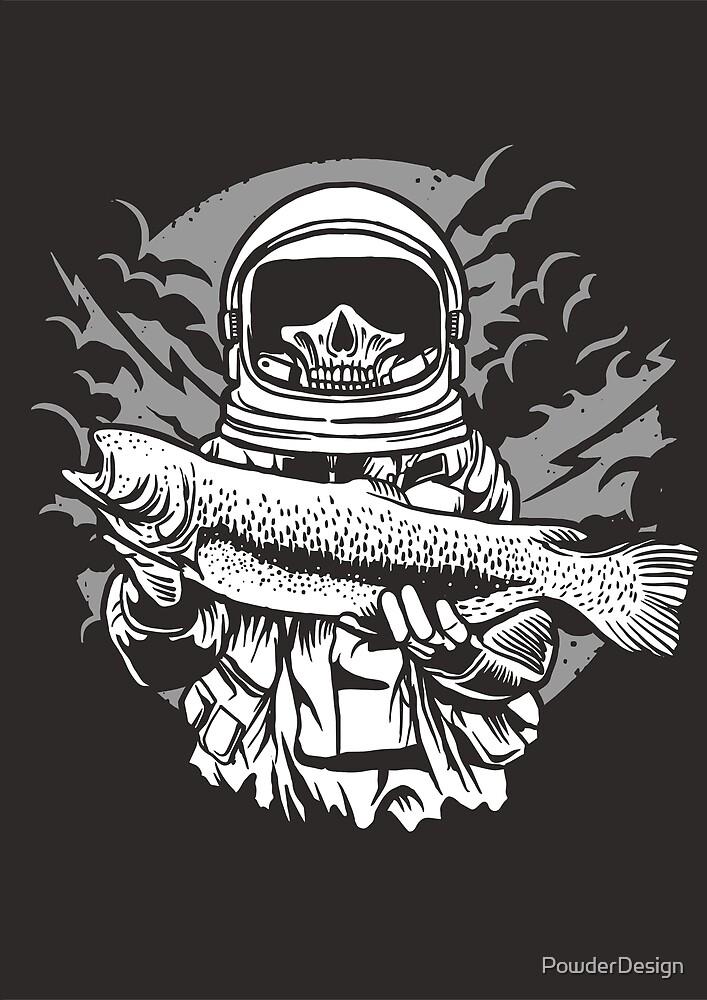Fishing Astronaut by PowderDesign