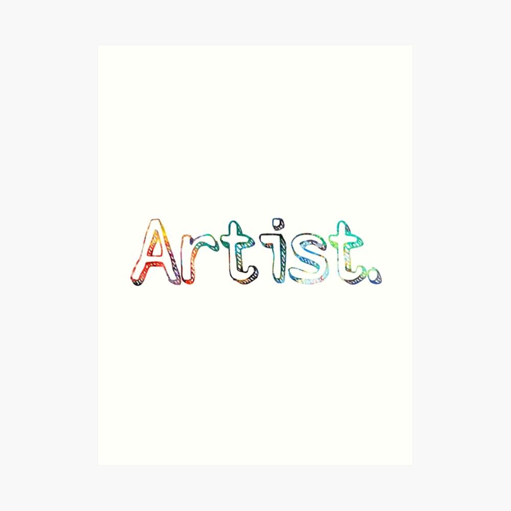Künstler Art Painter Geschenk Kunstdruck