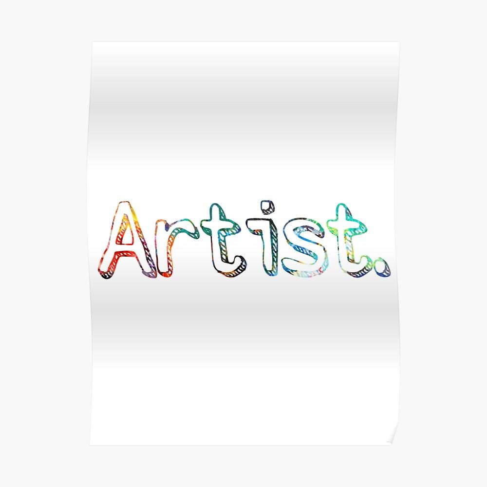 Künstler Art Painter Geschenk Poster
